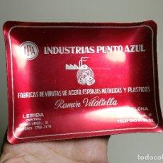 Ceniceros: CENICERO ALUMINIO SERIGRAFIADO PUBLICITARIO INDUSTRIAS PUNTO AZUL-RAMON VILATELLA BARCELONA. Lote 175046347