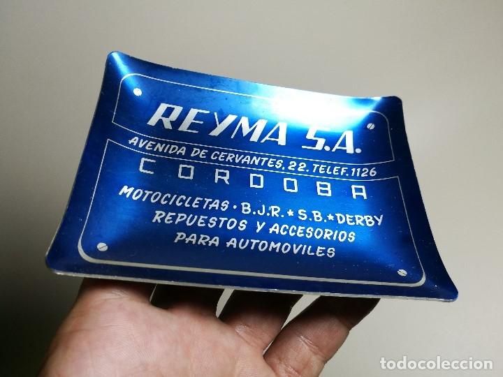 Ceniceros: Cenicero Aluminio serigrafiado Publicitario REYMA S.A REPUESTOS MOTOCICLETAS DERBY BJR SB-CORDOBA - Foto 3 - 175046800