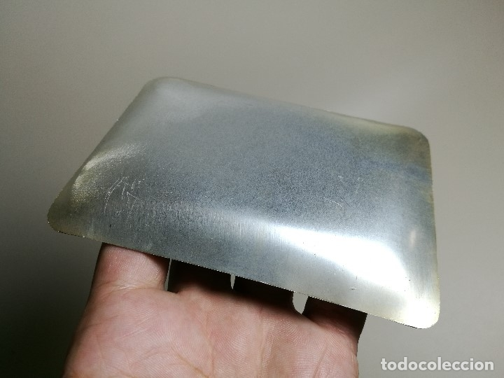 Ceniceros: Cenicero Aluminio serigrafiado Publicitario LABORATORIO GERARDO DIEZ- BARCELONA - Foto 4 - 175047142