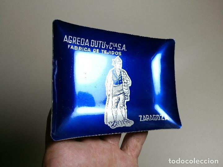 Ceniceros: Cenicero Aluminio serigrafiado Publicitario FABRICA DE TEJIDOS AGREDA DUTU -ZARAGOZA - Foto 3 - 175047282