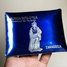 Ceniceros: CENICERO ALUMINIO SERIGRAFIADO PUBLICITARIO FABRICA DE TEJIDOS AGREDA DUTU -ZARAGOZA. Lote 175047282