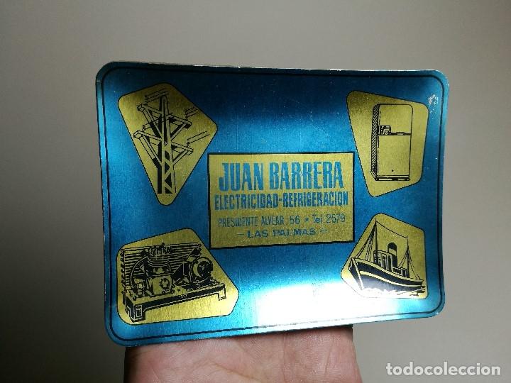 Ceniceros: Cenicero Aluminio serigrafiado Publicitario JUAN BARRERA ELECTRICIDAD-REFRIGERACION --LAS PALMAS - Foto 2 - 175047378