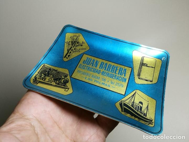 Ceniceros: Cenicero Aluminio serigrafiado Publicitario JUAN BARRERA ELECTRICIDAD-REFRIGERACION --LAS PALMAS - Foto 4 - 175047378