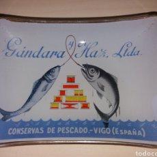 Ceniceros: ANTIGUO CENICERO GÁNDARA Y HAZ - CONSERVAS DE PESCADO - VIGO. Lote 175345084