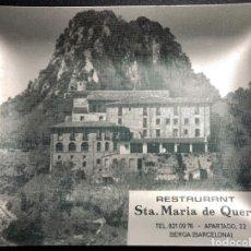 Ceniceros: CENICERO METÁLICO CON PUBLICIDAD Y FOTO RESTAURANT STA. MARIA DE QUERALT . BERGA. Lote 177264942