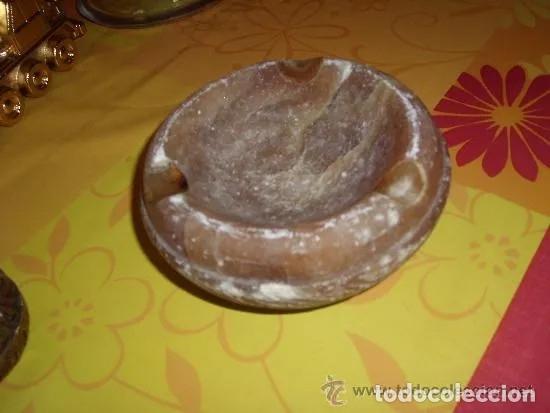 Ceniceros: CENICERO DE ALABASTRO Y ENCEDEDOR DE MADERA ANTIGUOS, FINALES 60 - PRINCIPIOS 70. TABACO - Foto 2 - 179106237