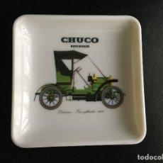 Ceniceros: CENICERO CHUCO CON MOTIVO DE AUTOMOVIL. Lote 179546980