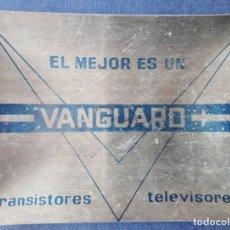 Ceniceros: CENICERO DE ALUMINIO VINTAGE VANGUARD TRANSISTORES TELEVISORES. Lote 180040713