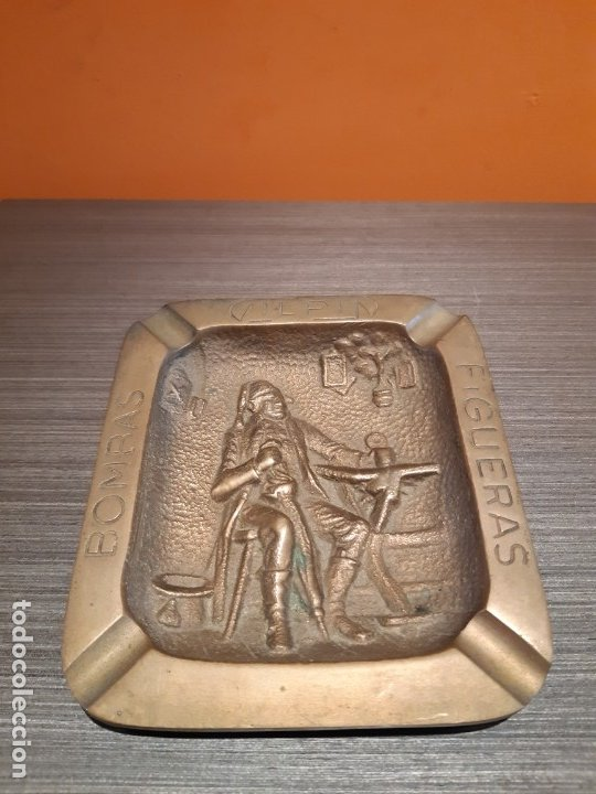 Ceniceros: Muy antiguo cenicero bronce publicidad BOMBAS GILPIN - Foto 2 - 180108692