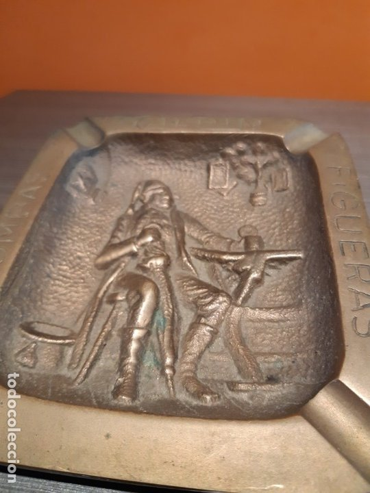 Ceniceros: Muy antiguo cenicero bronce publicidad BOMBAS GILPIN - Foto 3 - 180108692