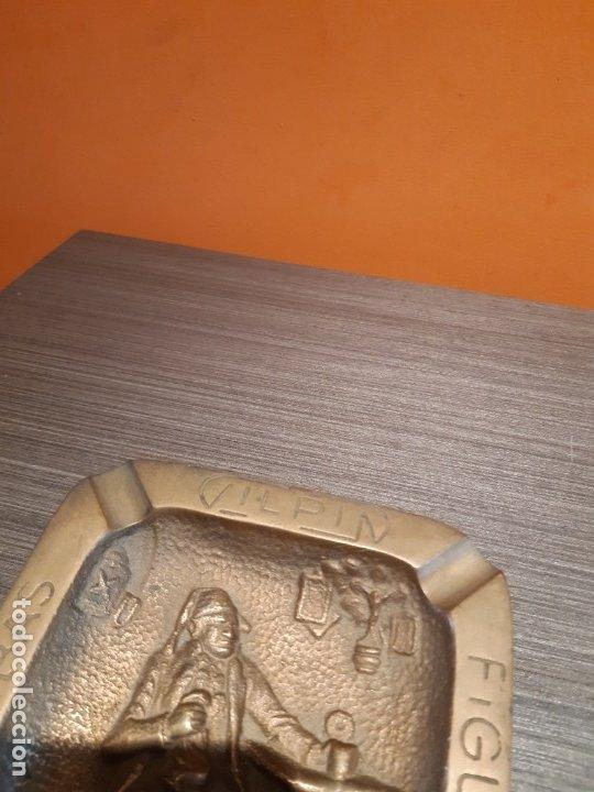 Ceniceros: Muy antiguo cenicero bronce publicidad BOMBAS GILPIN - Foto 5 - 180108692
