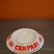 Ceniceros: ANTIGUO CENICERO PUBLICIDAD CAMPARI. Lote 180115606
