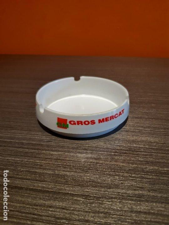 ANTIGUO CENICERO PUBLICIDAD GM GROS MERCAT (Coleccionismo - Objetos para Fumar - Ceniceros)