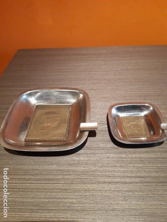 Ceniceros: Antigua pareja de ceniceros cerros 1853 certificado 6RS - Foto 4 - 180117420