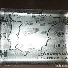 Ceniceros: CENICERO ANTIGUO DE METAL PUBLICIDAD FINANZAUTO SERVICIOS MADRID MEDIDAS: 13 X 18 . Lote 180403023