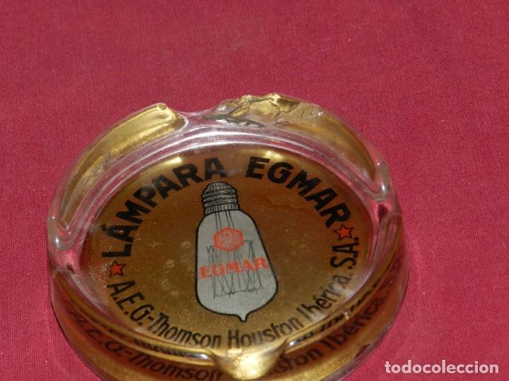 Ceniceros: (M) CENICERO ANTIGUO DE PUBLICIDAD LAMPARA EGMAR A.E.G. THOMSON HOUSTON IBÉRICA, VER FOTOGRAFIAS - Foto 2 - 182575222
