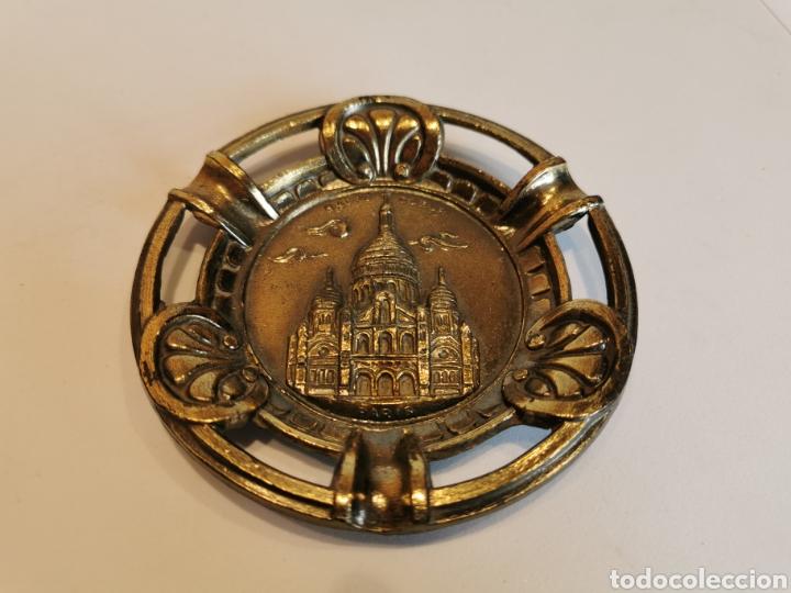 CENICERO METAL SACRE COEUR MADE IN FRANCE PARIS 10 CM (Coleccionismo - Objetos para Fumar - Ceniceros)
