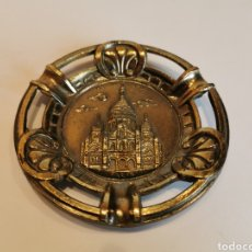 Ceniceros: CENICERO METAL SACRE COEUR MADE IN FRANCE PARIS 10 CM. Lote 182621887