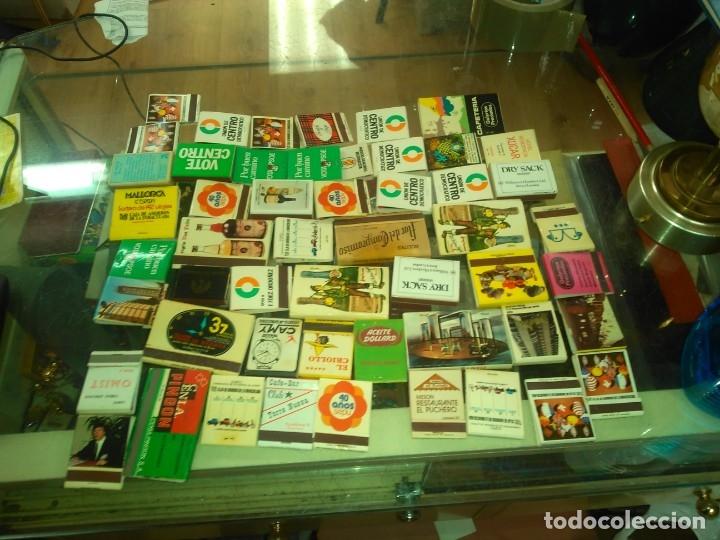LOTE DE CAJAS CON CERILLAS AÑOS 60 70 80 (Coleccionismo - Objetos para Fumar - Ceniceros)