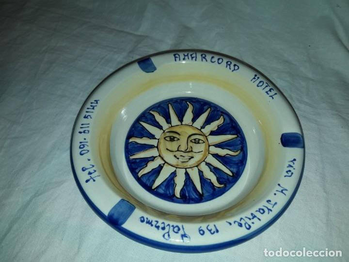 Ceniceros: Cenicero cerámica Amarcord Hotel Palermo Italia - Foto 2 - 183344776