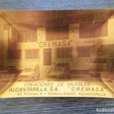 Ceniceros: CENICERO ALUMINIO MUEBLES CREMASA ALCANTAILLA . TARJETERO, BANDEJA. Lote 183400431