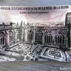 Ceniceros: CENICERO ALUMINIO ABADIA CISTERCENSE DE CARCASTILLO NAVARRA 1970 . TARJETERO, BANDEJA. Lote 183403877