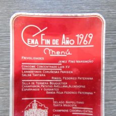 Ceniceros: CENICERO ALUMINIO CENA FIN DE AÑO HOTEL VICTORIA MADRID 1969. TARJETERO, BANDEJA. Lote 183404597