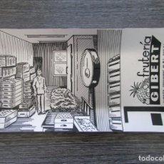 Ceniceros: CENICERO ALUMINIO FRUTERIA GIBERT SABADELL 1970. TARJETERO, BANDEJA. Lote 183404976