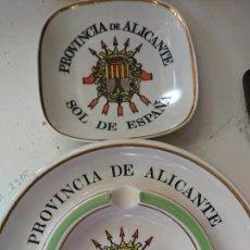 Ceniceros: CENICEROS DE ALICANTE CON ESCUDO DE LA FALANGE, ÉPOCA DE FRANCO. Lote 184704615