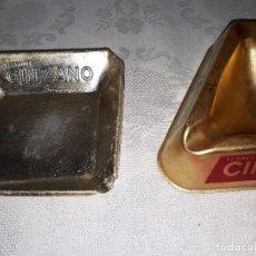 Ceniceros: LOTE DOS CENICEROS ALUMINIO CINZANO. Lote 186178697