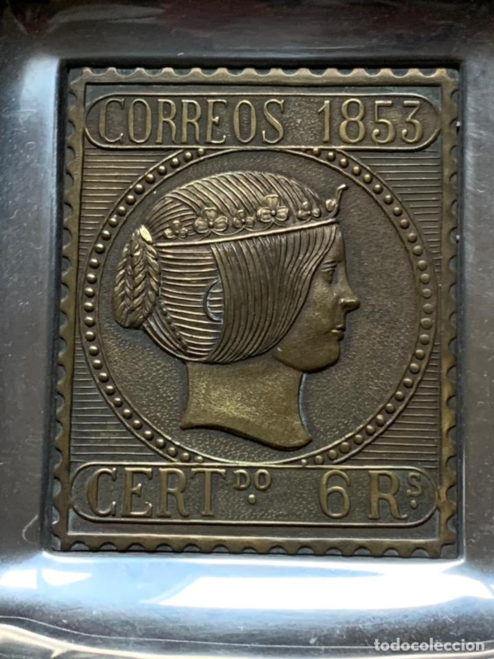 Ceniceros: Cenicero sello correos 1853 6 reales - Foto 2 - 186209685