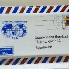 Ceniceros: CENICERO DE CERAMICA CORREOS VIA AEREA CAMPEONATO MUNDIAL DE FUTBOL ESPAÑA 1982. Lote 186250298
