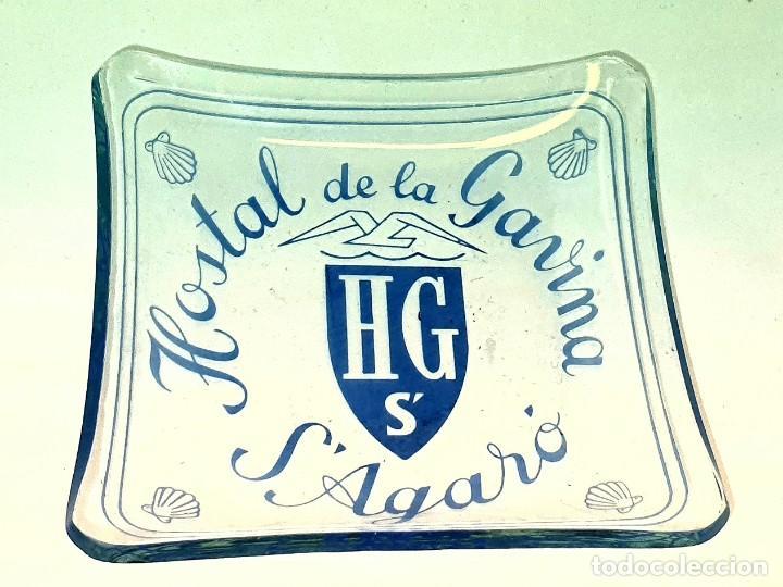 HOSTAL DE LA GAVINA S' AGARO GIRONA CENICERO DE CRISTAL (Coleccionismo - Objetos para Fumar - Ceniceros)