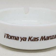 Ceniceros: CENICERO - CERAMICA - TOMA YA KAS MANZANA - CAR72. Lote 190178491