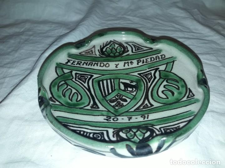 Ceniceros: Bello cenicero de cerámica Domingo Punter Teruel - Foto 2 - 191430087