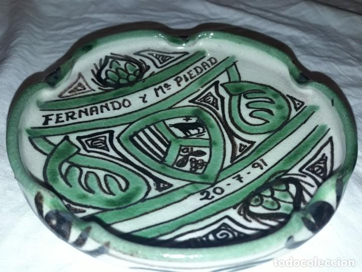 Ceniceros: Bello cenicero de cerámica Domingo Punter Teruel - Foto 3 - 191430087