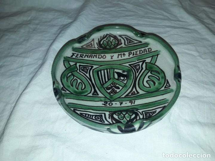 BELLO CENICERO DE CERÁMICA DOMINGO PUNTER TERUEL (Coleccionismo - Objetos para Fumar - Ceniceros)