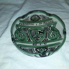 Ceniceros: BELLO CENICERO DE CERÁMICA DOMINGO PUNTER TERUEL. Lote 191430087