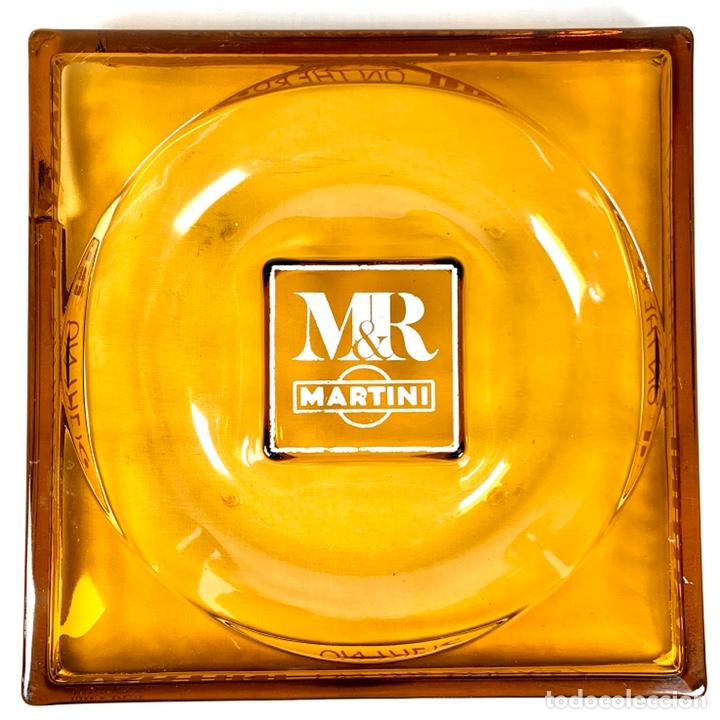 Ceniceros: Gran cenicero de Martini en cristal color caramelo años 70 - Foto 2 - 194160160
