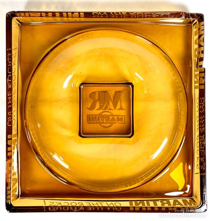 Ceniceros: Gran cenicero de Martini en cristal color caramelo años 70 - Foto 4 - 194160160