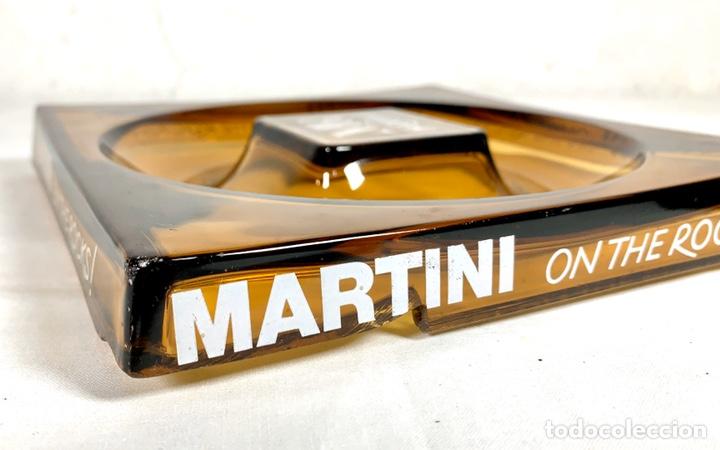 Ceniceros: Gran cenicero de Martini en cristal color caramelo años 70 - Foto 5 - 194160160