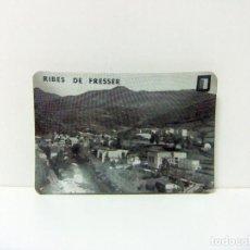 Ceniceros: PEQUEÑO CENICERO DE METAL CON IMAGEN DE RIBES DE FRESSER GIRONA GERONA - FOTO BLANCO Y NEGRO ANTIGUO. Lote 194335340