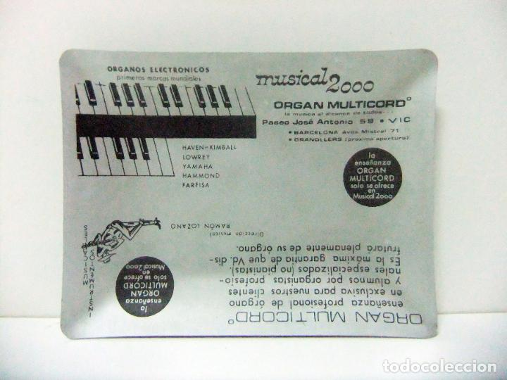 Ceniceros: CENICERO DE METAL ORGAN MULTIRECORD MUSICAL 2000 VIC - PUBLICIDAD ÓRGANOS ELECTRÓNICOS MÚSICA VICH - Foto 2 - 194336361