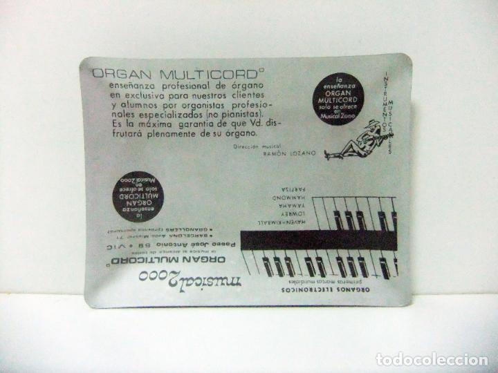 CENICERO DE METAL ORGAN MULTIRECORD MUSICAL 2000 VIC - PUBLICIDAD ÓRGANOS ELECTRÓNICOS MÚSICA VICH (Coleccionismo - Objetos para Fumar - Ceniceros)