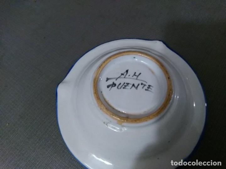 Ceniceros: Cenicero cerámica A. H. Puente del Arzobispo - Foto 2 - 194733737
