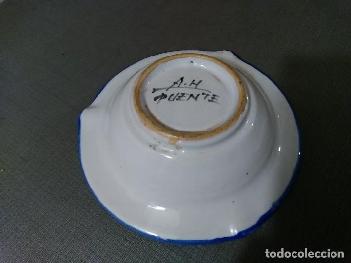 Ceniceros: Cenicero cerámica A. H. Puente del Arzobispo - Foto 5 - 194733737