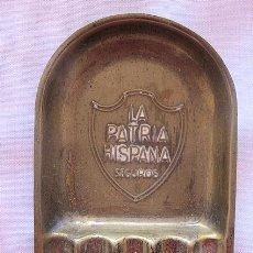 Ceniceros: CENICERO ANTIGUO SEGUROS LA PATRIA HISPANA. Lote 194859277