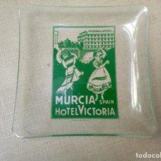 Ceniceros: CENICERO DE HOTEL VICTORIA. MURCIA, 1890-1977.. Lote 195003402