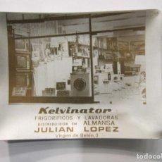 Ceniceros: CENICERO PUBLICITARIO EN ALUMINIO - KELVINATOR - JULIAN LOPEZ - ALMANSA. Lote 195181746