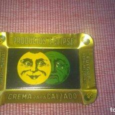 Ceniceros: ANTIGUO CENICERO EN HOJALATA LITOGRAFIADA PUBLICIDAD PRODUCTOS* ECLIPSE Y FULGOR PARA METALES 1930S.. Lote 196526126